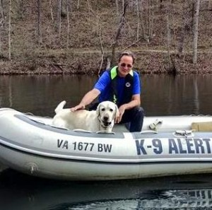 Congrats to TEAM JORDAN -we offer our congratulations to Mark and K9 Jordan for passing their water recovery boat test Sunday. They are now a certified Water Recovery K9 team. A big thanks to Kathleen, with Blue and Gray Search and Rescue Dogs, Inc., for assisting on the evaluation.
